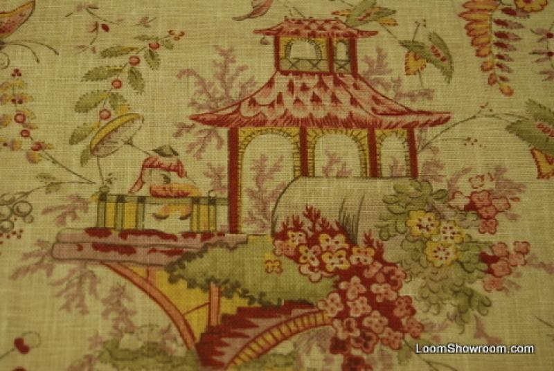 RL557 Ralph Lauren Chinoiserie Garden Asia Toile Linen