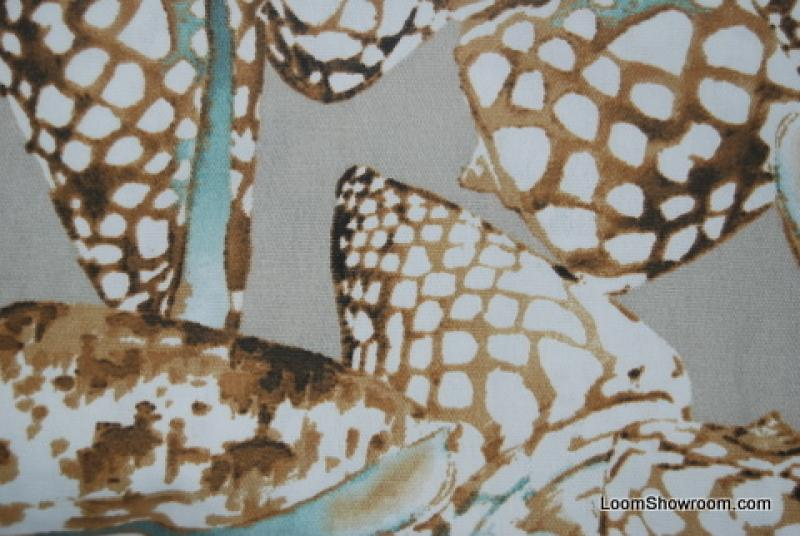 Sea Life Zebra Shell Tiger Shell Indoor Outdoor Fabric Acrylic Fabric Print  S323