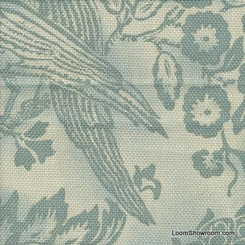 Williams Sonoma Heavy Weight Barkcloth Texture Block Print Style Soft Indoor  Outdoor Fabric S588