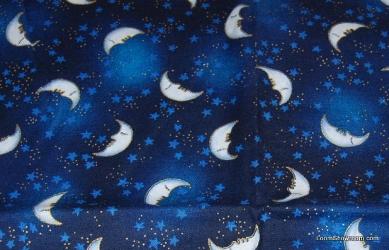 Laurel burch egypt sun and moon sleeping moon celestial for Sun moon fabric
