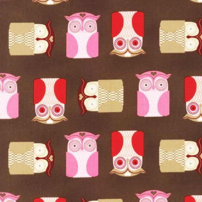 Retro Owls Fabric