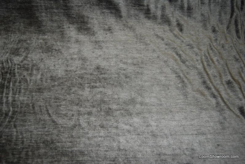 WB35 Stormy Sea Blue Grey Velvet Heavy Textured Cotton ...