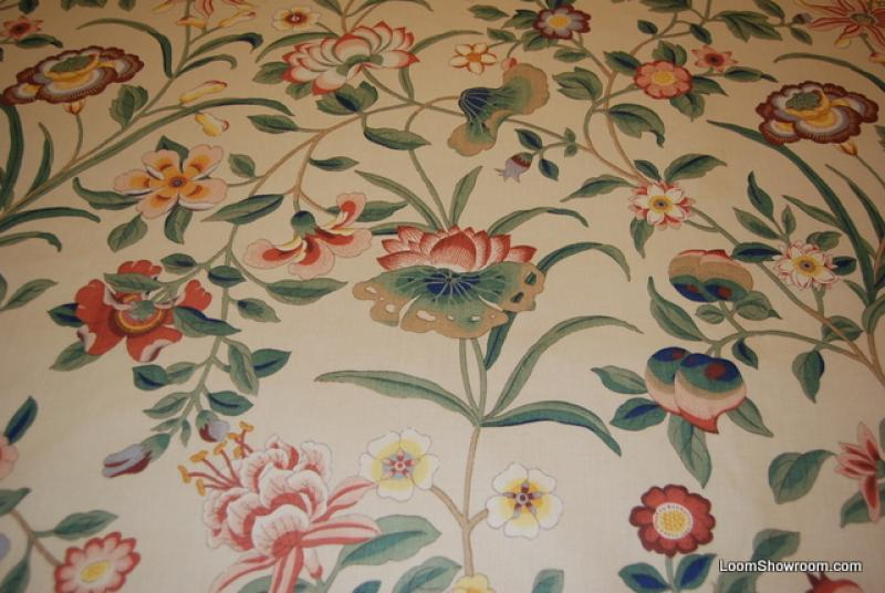 Z144 Vintage English Chintz Passage To India Flower