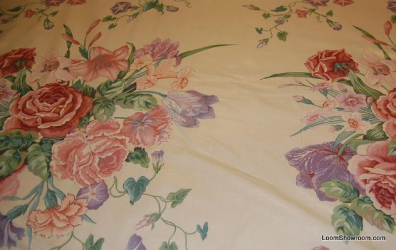 Chintz 17 yard piece vintage english glazed chintz design for Chintz fabric