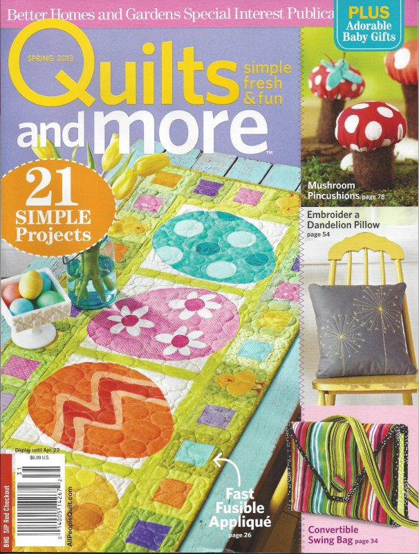 More Magazine November 2014 Issue: Quilts And More Magazine Spring 2013