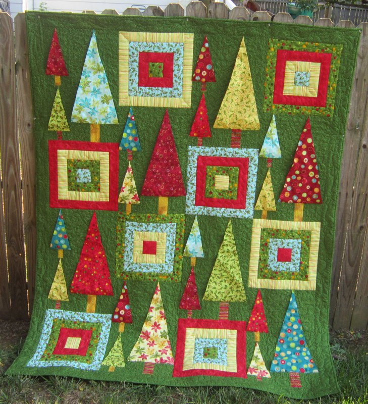 Oh christmas tree quilt kit - Quilt rits ...