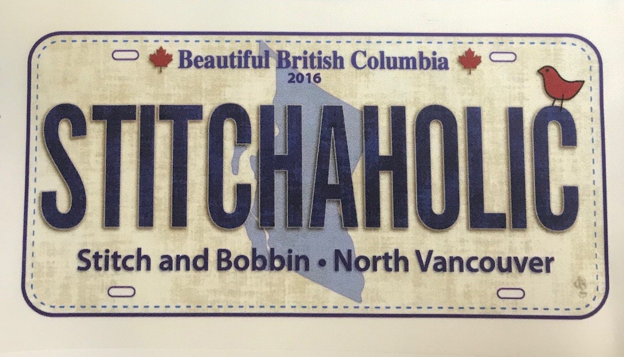 Row by Row 2016 Fabric License Plate