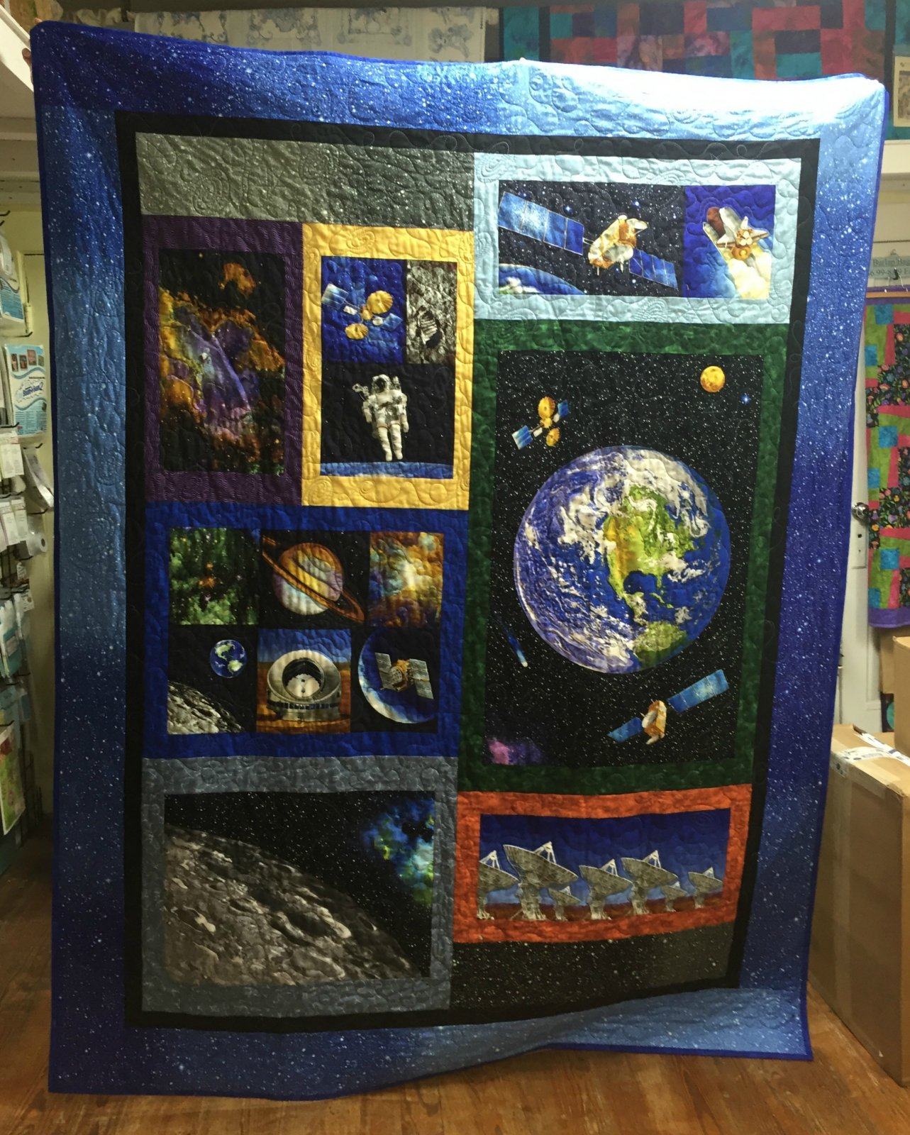 Nasa space for Space fabric quilt
