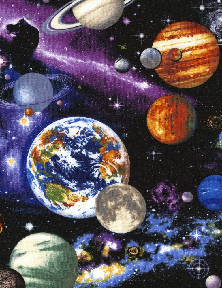 Space for Timeless treasures space galaxy fabric