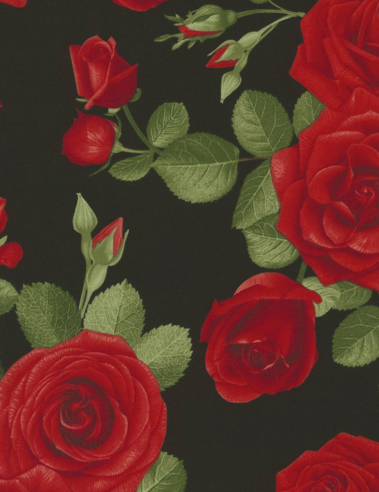 Spaced Roses - GLAMOUR-C5053 BLACK