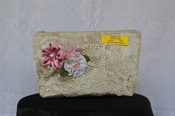 Zipper Bag w/ Lace