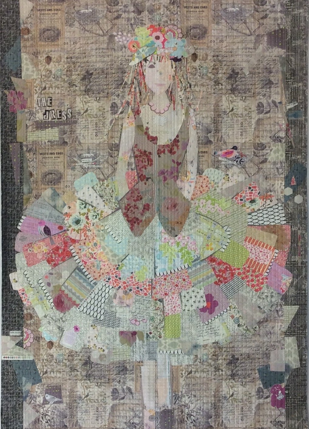 The Dress Collage Pattern by Laura Heine