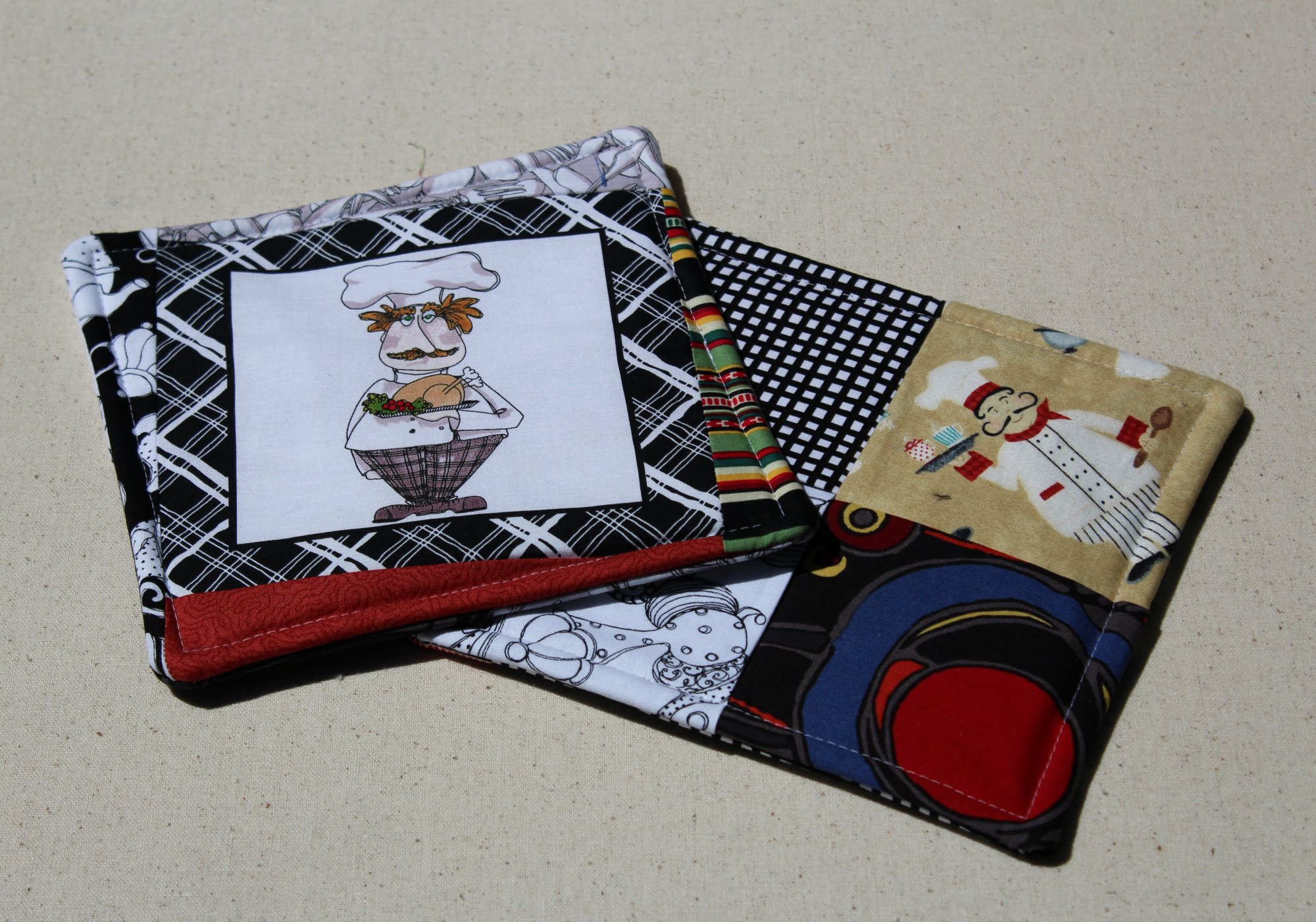 Hot Pads - Coordinating Set of 2 - Chef