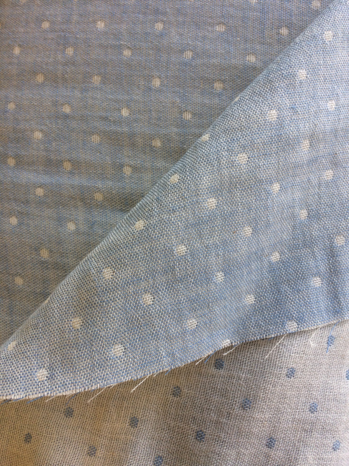 Reversible Dots in Light Blue (Double Gauze Fabric) for Kiyohara #KOF-04 BL