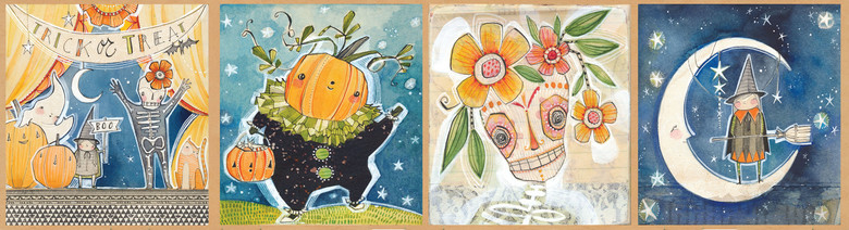 Halloween Show by Cori Dantini from the Spooky Town collection for Blend #112.110.02.1