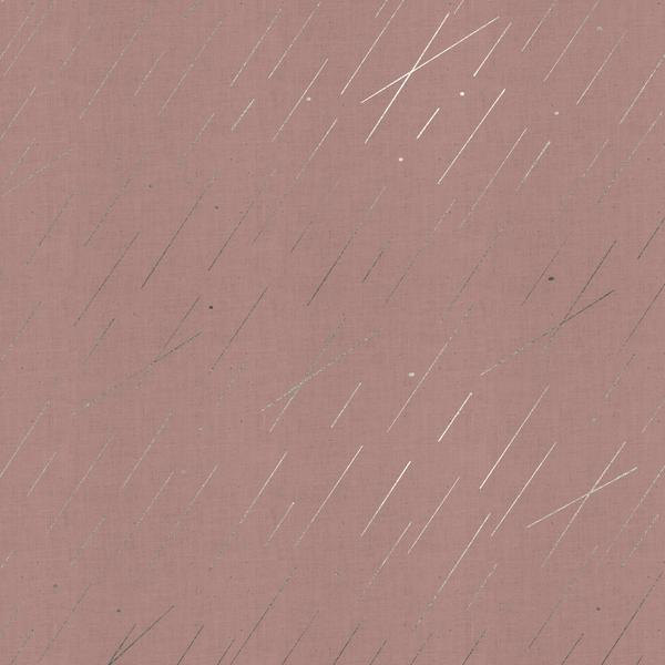 Precipitation in Blush (Metallic Silver) by Rashida Coleman-Hale from the Raindrop collection for Cotton and Steel #1939 003