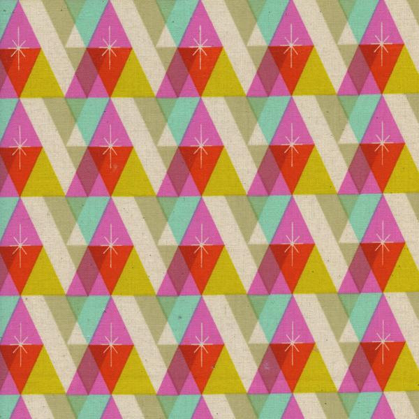 Facet in Pink from the Garland collection for Cotton and Steel #5074 001