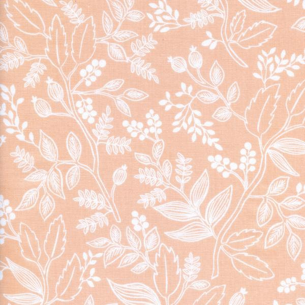 Queen Anne in Peach by Rifle Paper Co. from the Les Fleurs collection for Cotton and Steel #8005-02