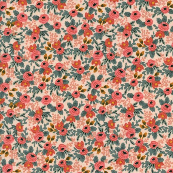 Rosa in Peach by Rifle Paper Co. from the Les Fleurs collection for Cotton and Steel #8004-01