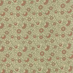 Grafton in Sage by Barbara Brackman from the Best of Morris collection for Moda #8212 21
