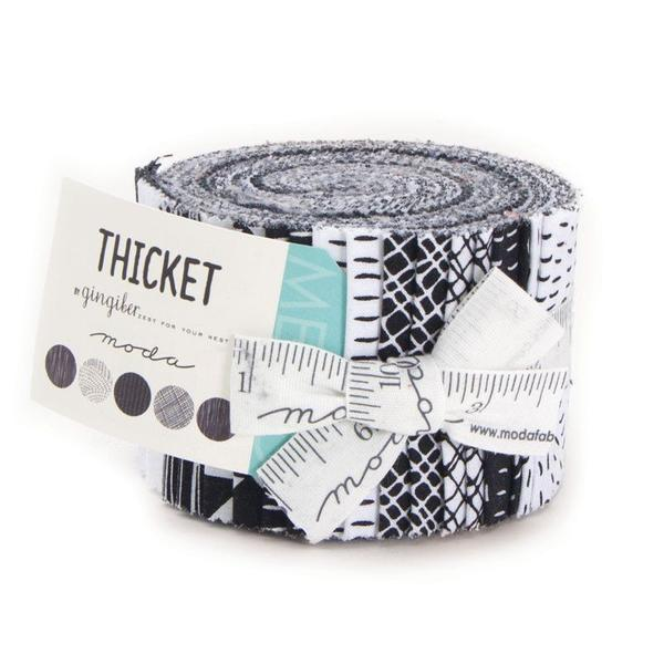 Thicket Junior Jelly Roll in White by Gingiber from the Thicket collection for Moda #1867.395
