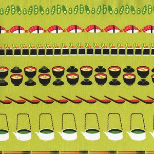 Conveyor Sushi in Wasabi by Michael Miller from the Bento Box collection for Michael Miller