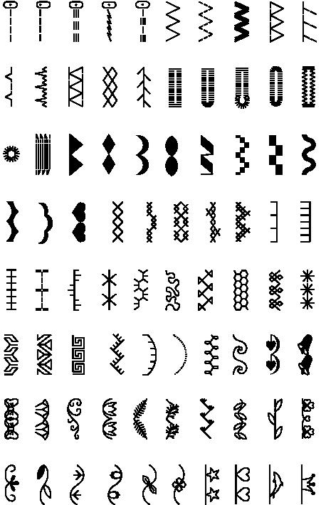 Sparrow 20 stitch chart