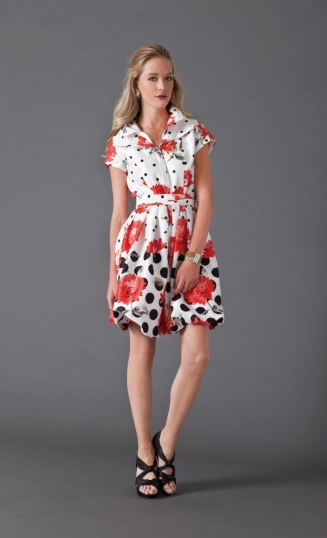 Polka Dot Floral Dress