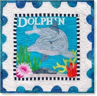 quilt pattern by Zebra - kit : dolphin quilt - Adamdwight.com