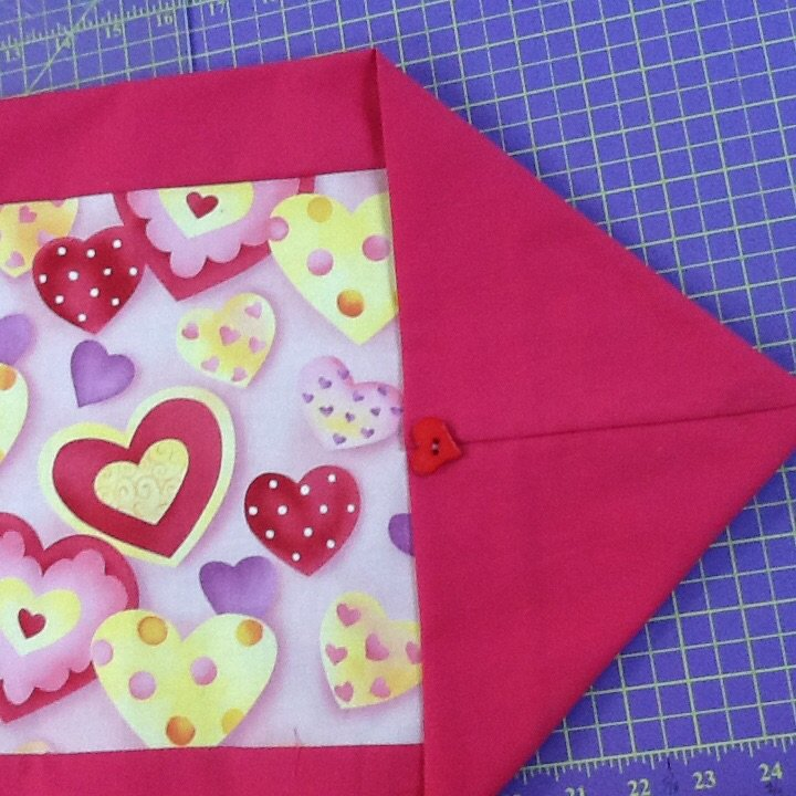 Valentine 10 minute table runner for 10 min table runner