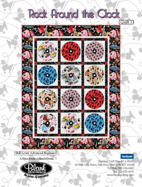 Rock Around the Clock Quilt Kit