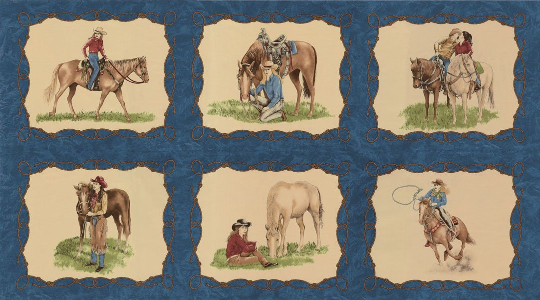 Cowgirl Country, Fabric Panel by Sara Khammash for Moda : 11300-12