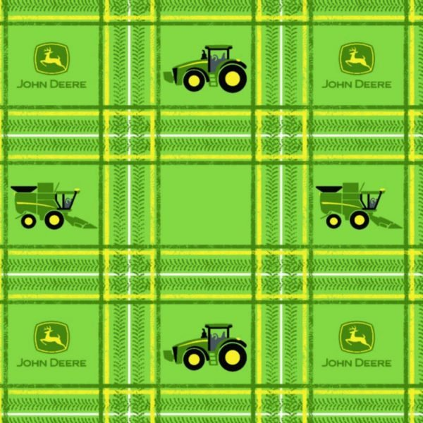 John Deere Tractor Plaid by Springs Creative : 16186