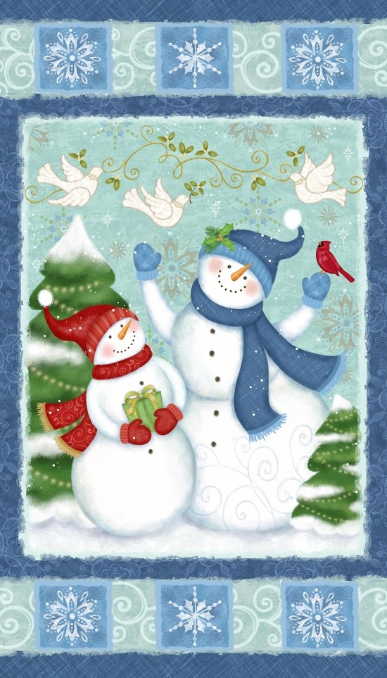 Winter Joy, 24in Fabric Panel by Sharla Fults for Studio E : 3800P-71