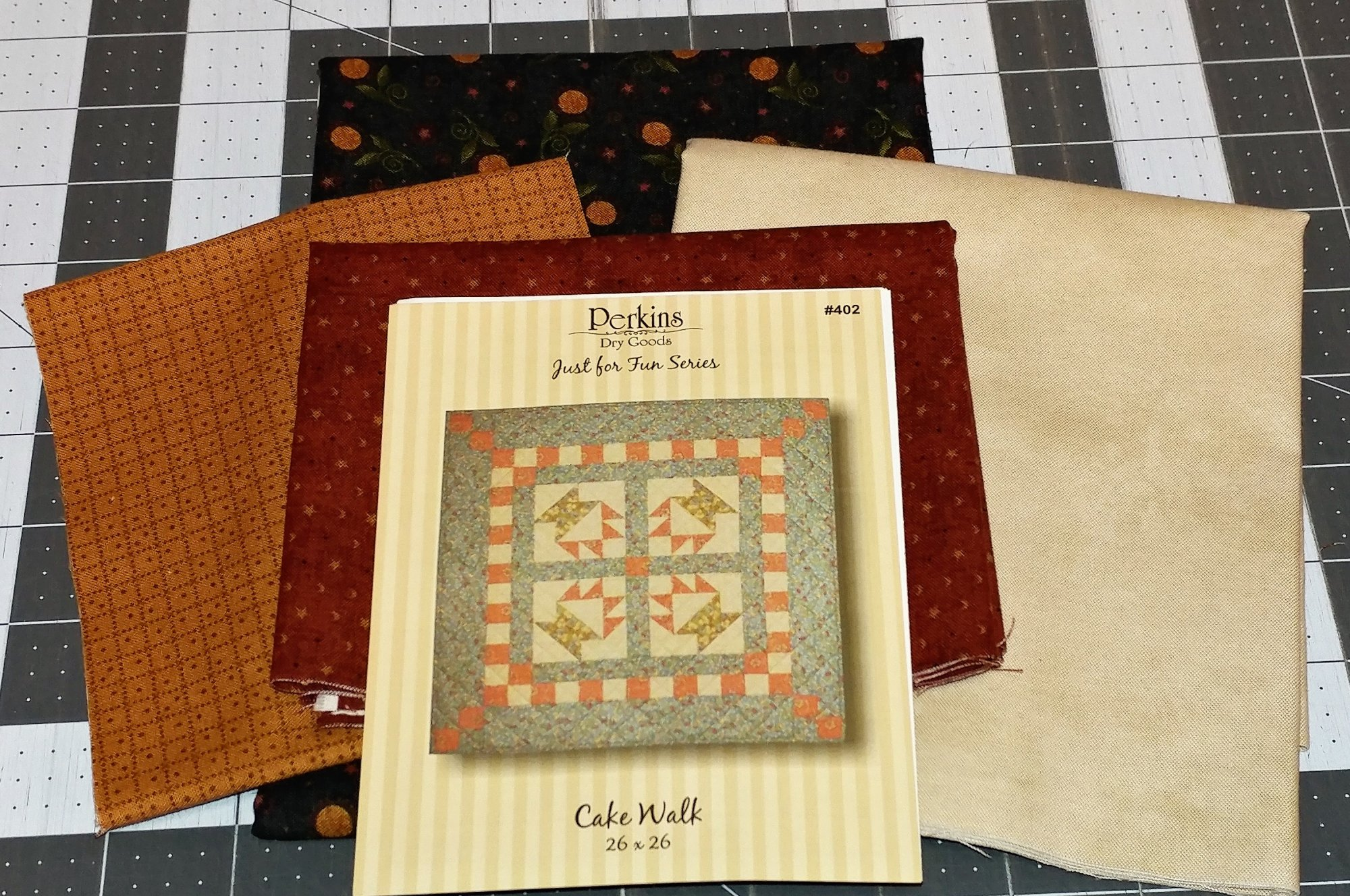 Cake Walk, Fabric Kit, Fabric Selection by Quilts N Gifts, Pattern by Perkins Dry Goods : 402-Kit