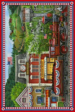 Sweet Land of Liberty, Fabric Panel 28in Digital Print by Thomas Wood and Debrorah Edwards for Northcott : DP21642-24