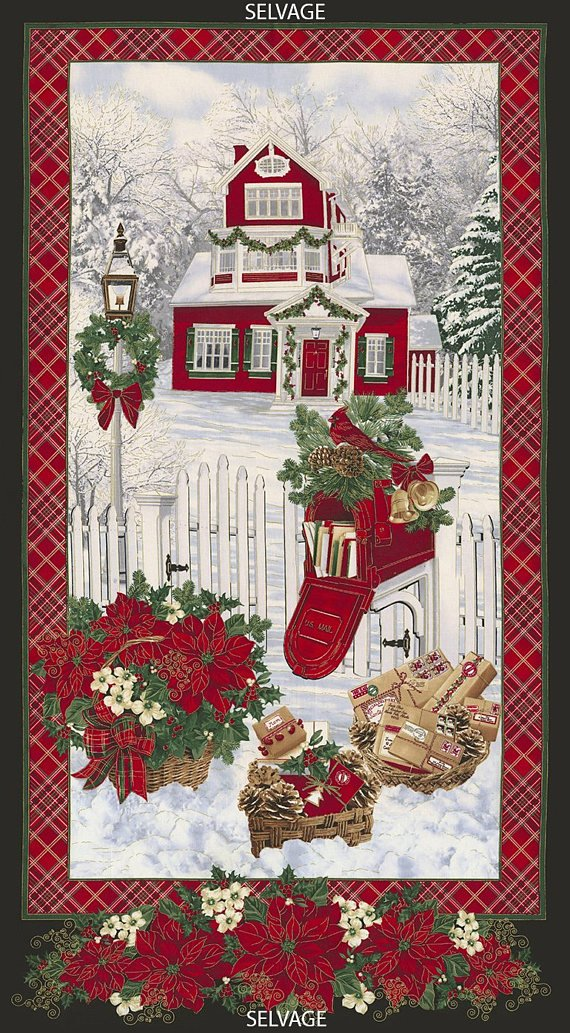 Holiday, Metallic Fabric Panel by Timeless Treasures Fabrics : holiday-cm4987