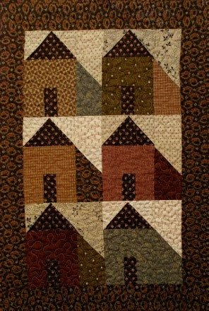 Mini Houses, Fabric Kit by Quilts N Gifts, Pattern by Jenifer Gaston of Woolen Willow Designs : WW176-kit