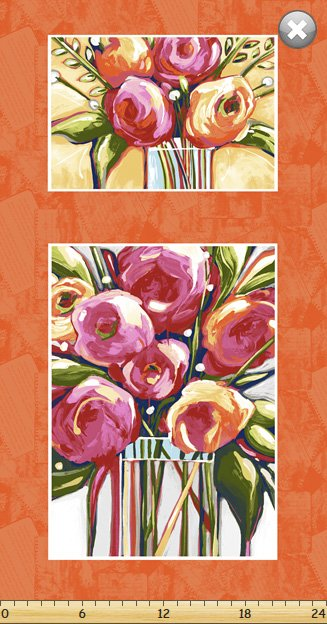 Susannah Bee, Floral Fabric Panel by Susybee Textiles : SB20260-450