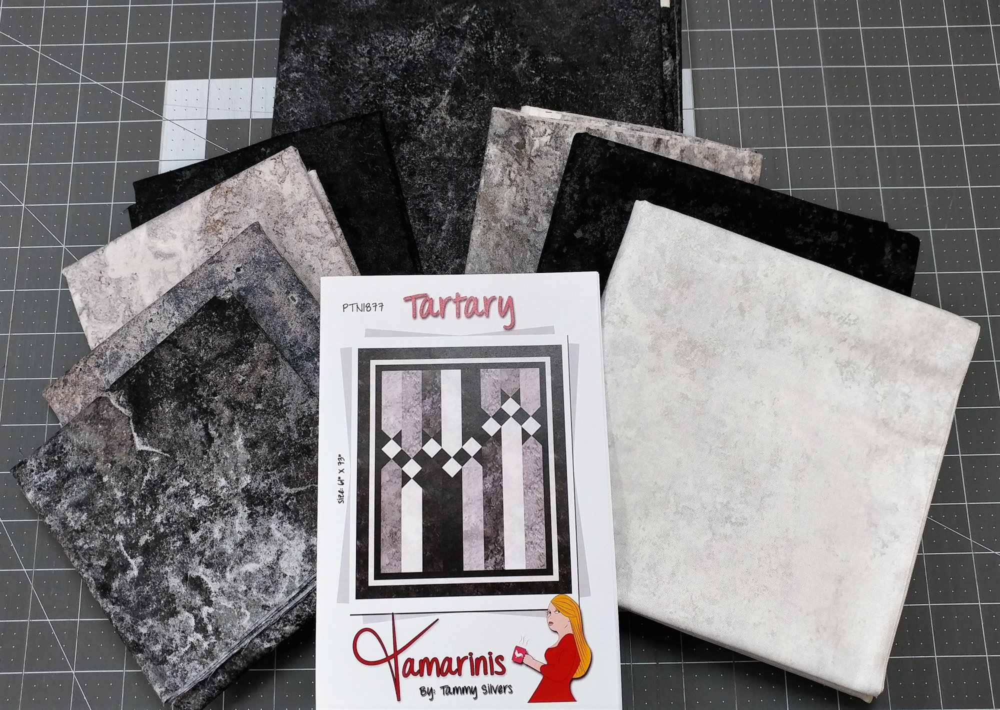 Tartary Fabric Kit, Fabric from Northcott, Pattern by Tammy Silvers for Tamarinis : PTN-1877-Kit