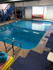 Indoor heated pool for scuba classes