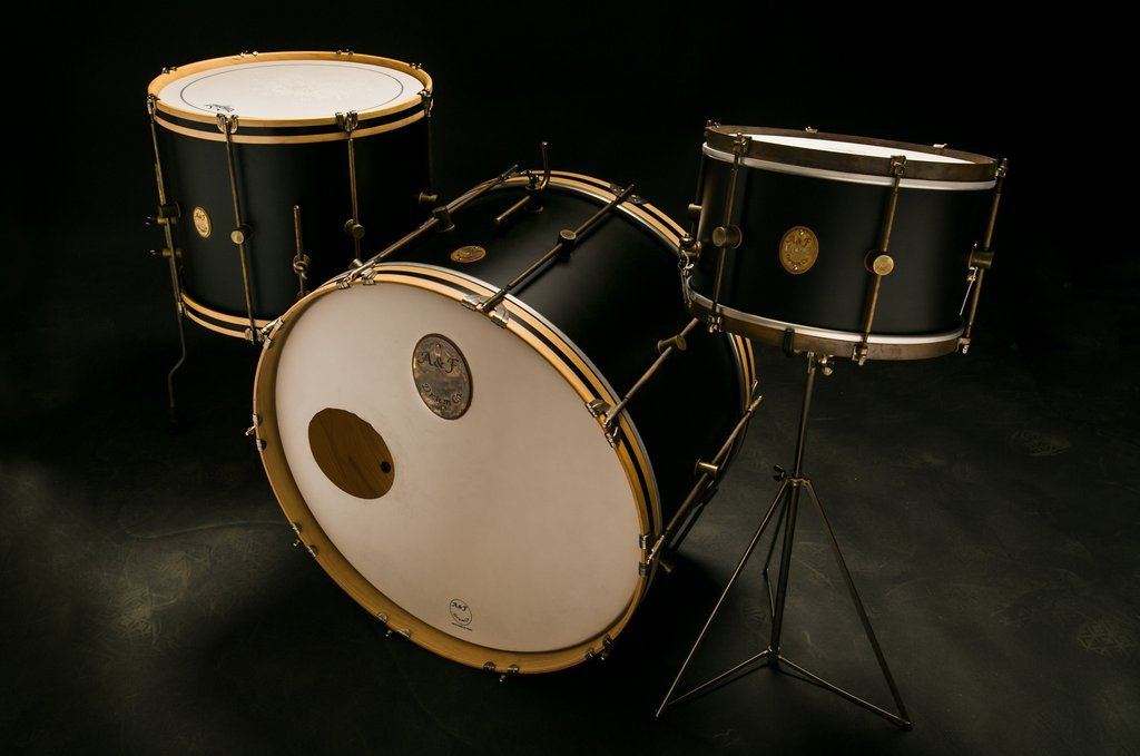 A&F Drum Co. Black Club 3-Piece Kit - Mahogany