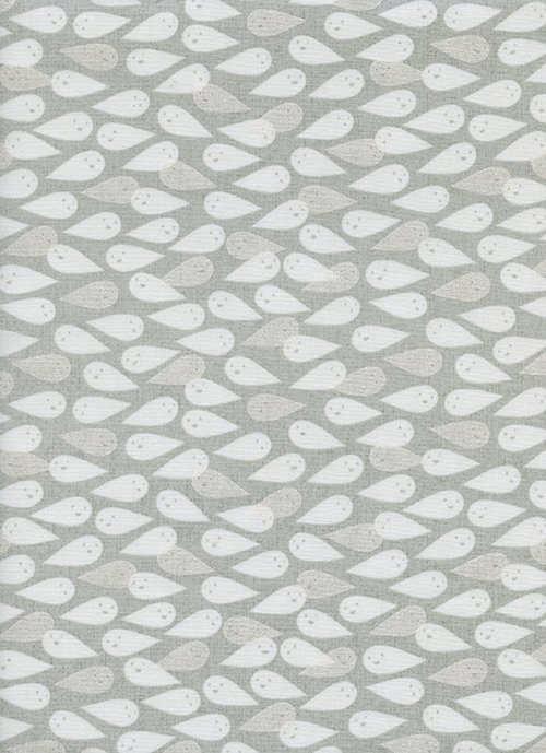 Ghosties - 2 1/2 yd Cut - Natural Pearlescent - Boo - Cotton + Steel