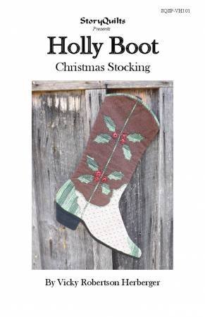 Holly Boot Christmas Stocking Pattern