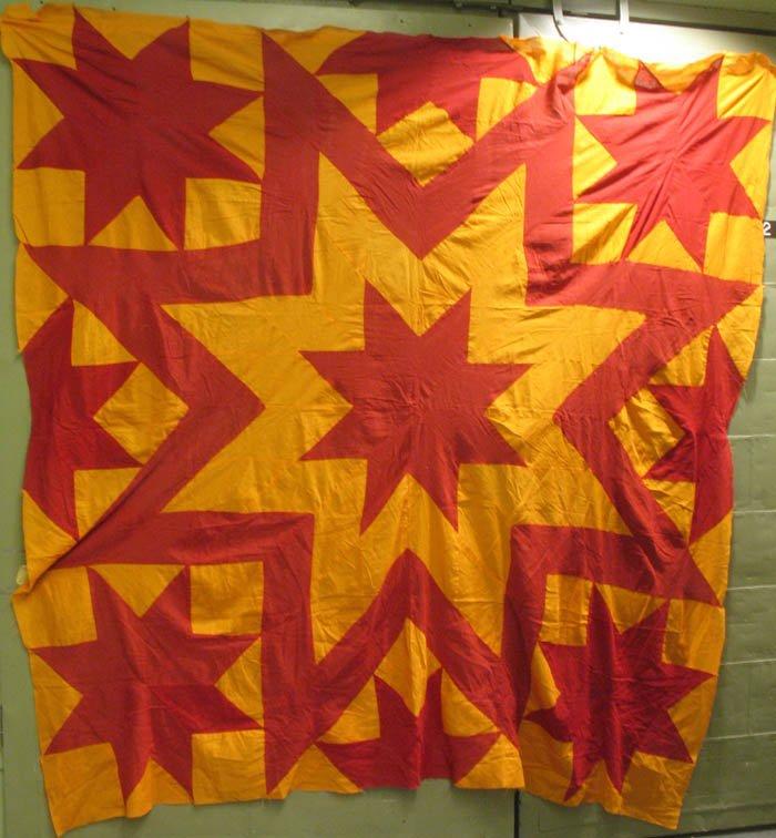 Aunt Eliza S Star Pieced Antique Quilt Top