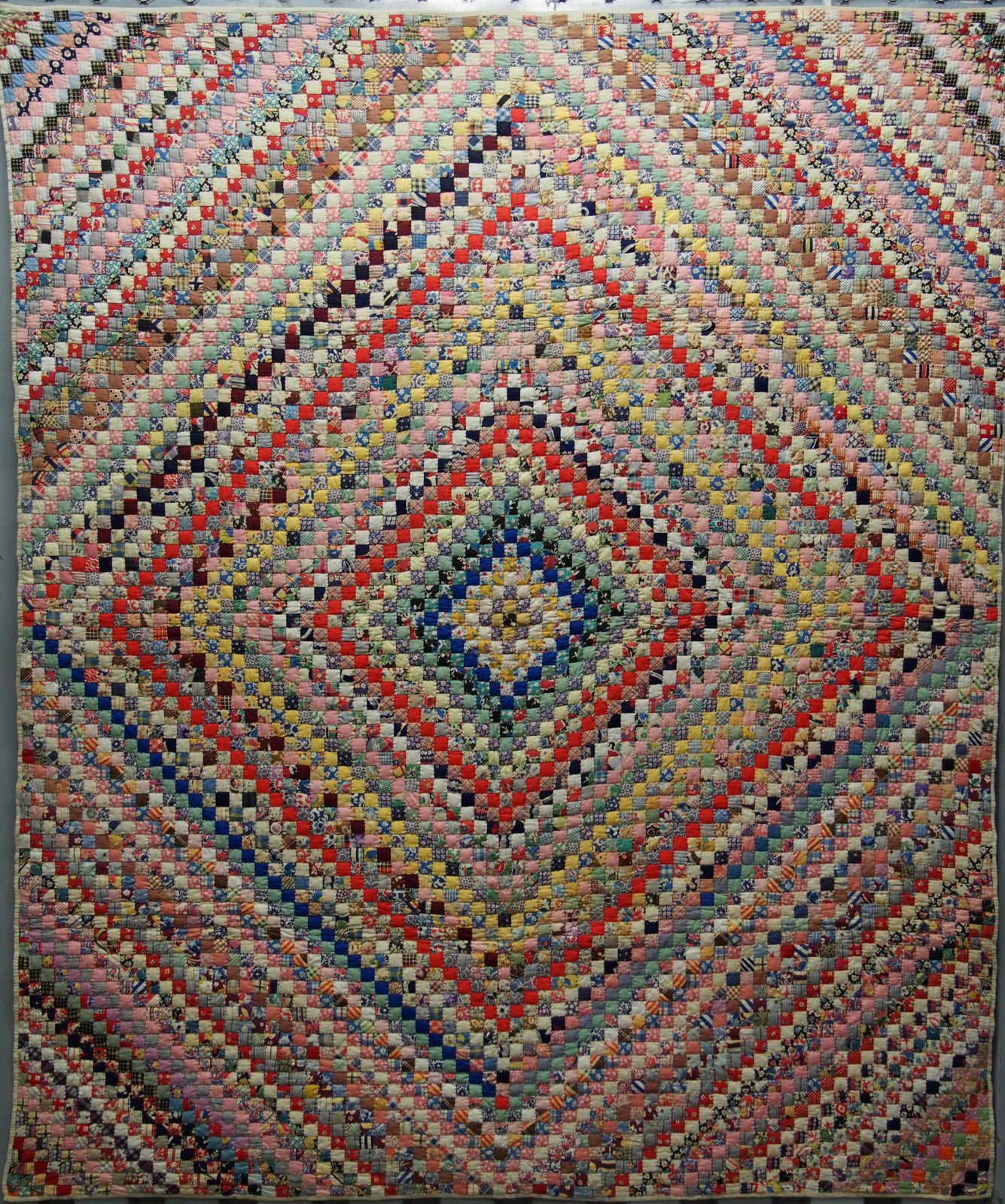 Postage stamp trip around the world antique quilt for What to do with an old quilt