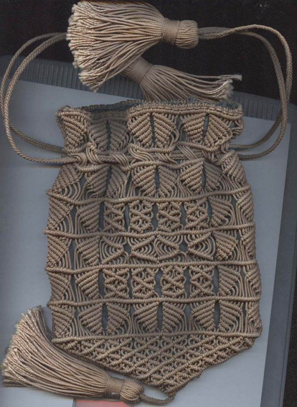 SAILOR'S MACRAME ANTIQUE BAG/PURSE