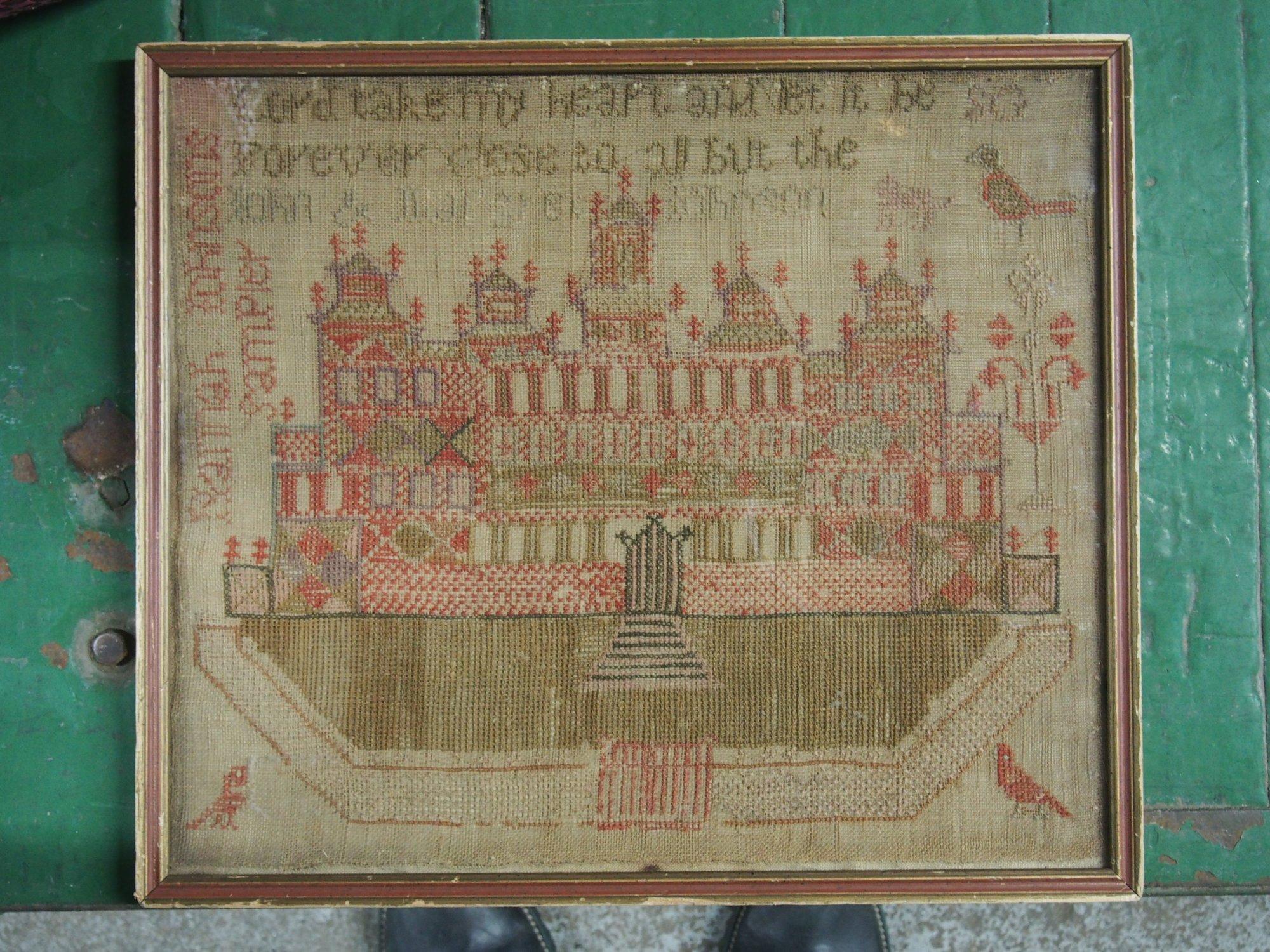 SOLOMON'S TEMPLE HANNAH JOHNSON'S SAMPLER