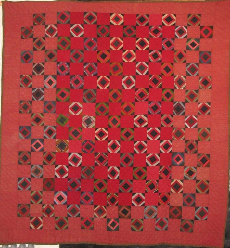 ECONOMY PATCH ANTIQUE QUILT red wool