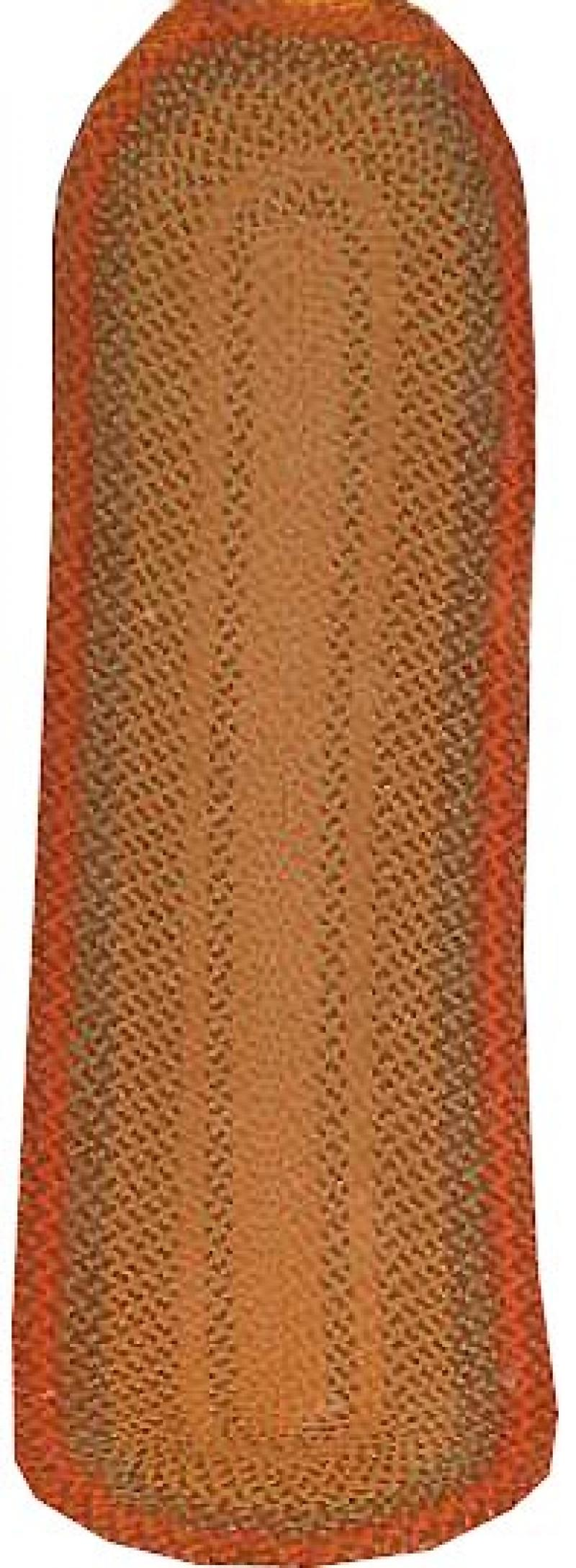 BRAIDED LONG OVAL RUG IN AUTUMN COLORS